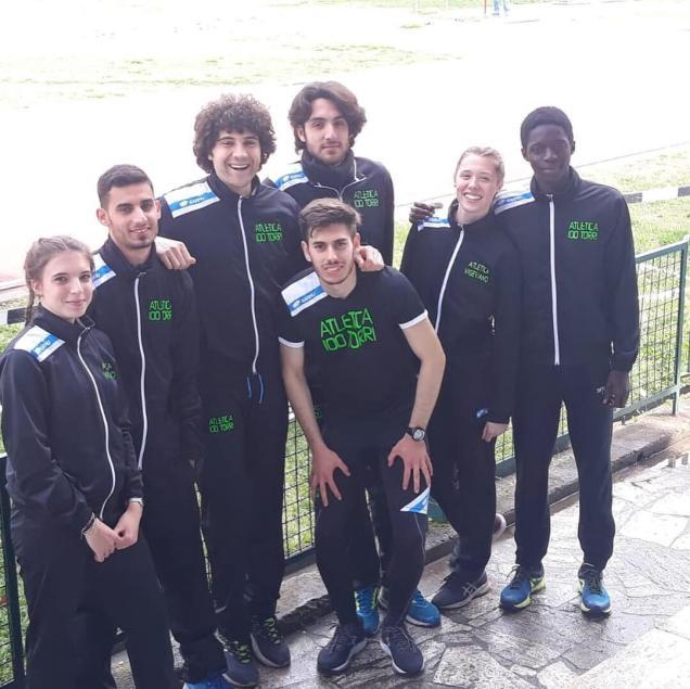 gli atleti dell'olimpico Pietro Farina